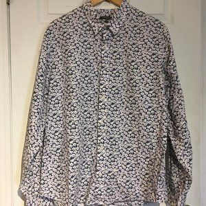Club Monaco Ditzy Floral Print Button Down Shirt
